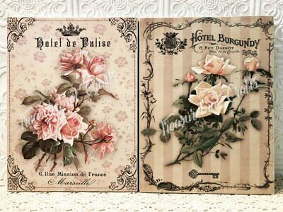 French Country Shabby Cottage Chic Wall decor Sign Set of Two