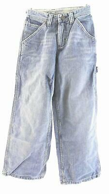 Lee Dungarees Boys size 10S Cotton Light Wash Contrast Stitch Classic Jeans CHOP