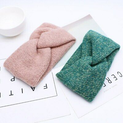 Winter Soft Cotton Knitted Elastic Baby Headband Stretch Girls Turban Hair Band