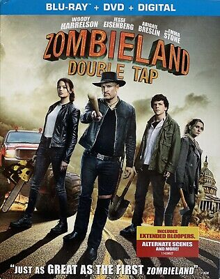 ZOMBIELAND: DOUBLE TAP ~ Blu-Ray + DVD + Digital *New *Factory Sealed