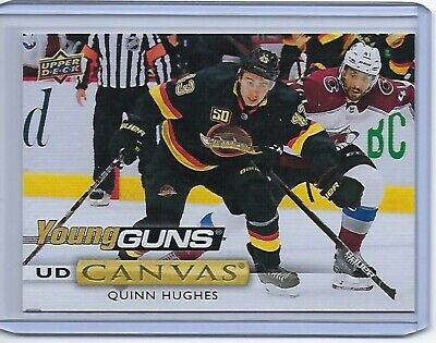 19-20 UD Series 2 Young Guns Canvas Rc Quinn Hughes Vancouver Canucks Rookie 211