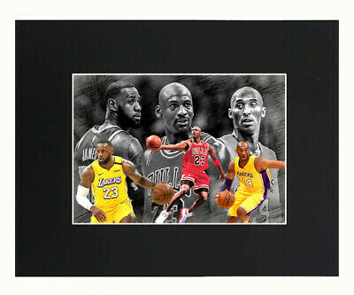 Kobe Bryant Michael Jordan LeBron James Basketball NBA Print Picture Decor