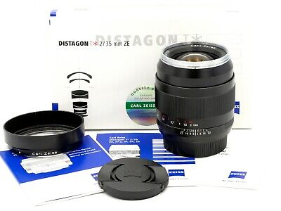 Zeiss 35mm f/2.0 Distagon-T* ZE Canon EF Prime w/Hd-Cps-Bx: Clean, Near Mint