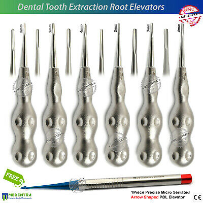 Dentist PDL Tooth Root Extraction-Extracting-Loosening Elevators Surgical Lab