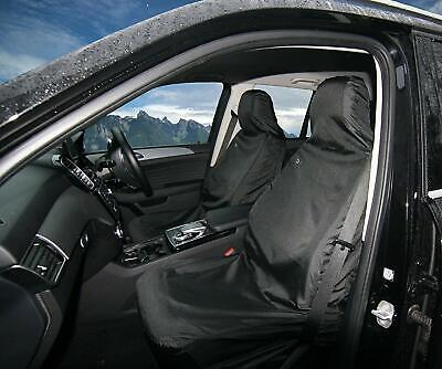 2 x Town and Country Covers 3D Universal Car Front Seat Covers - Black NEW