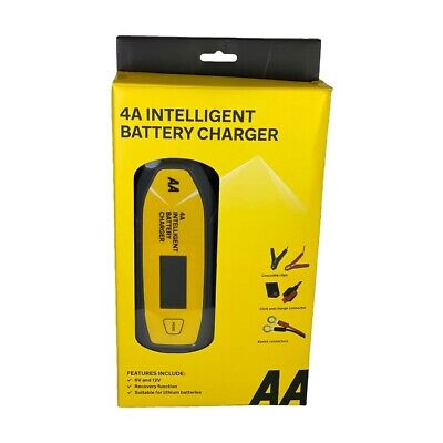 AA Official 4A Car Intelligent Battery Charger LCD Display Essentials Maintainer
