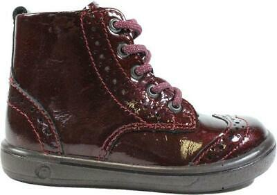 Jenny 2624500-380 Rinde Burgundy Patent Leather Girls Lace/Zip Up Ankle Boots