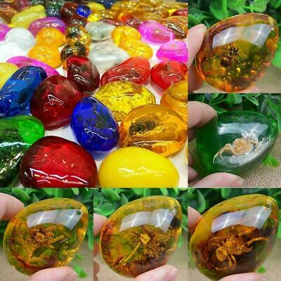 Resin Amber Butterfly Scorpion Crabs Ants Spider Insect Necklace Stone Pend Y5Y8