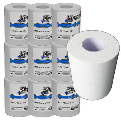 10 Piece Refill - RE-GEN Extra Wide Zinc Oxide Knee Ankle Wrist Tape 7.5cm x 10m