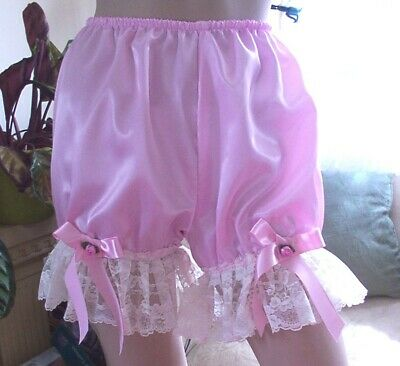 Cd Adult Baby Sissy Pink Satin Bloomers
