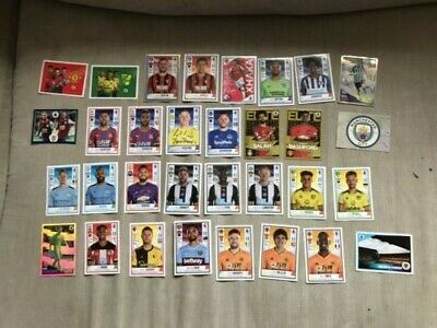 Panini Premier League 2019/20 - 32 Different Football Stickers, including Elite