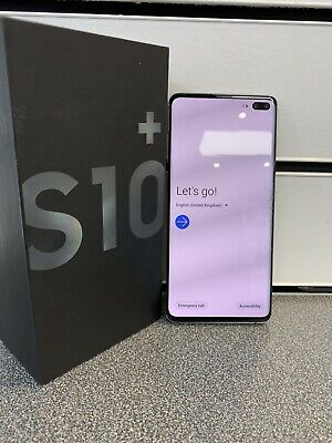 Samsung Galaxy S10+ SM-G975F - 128GB - Prism Black (Unlocked) Cracked Screen