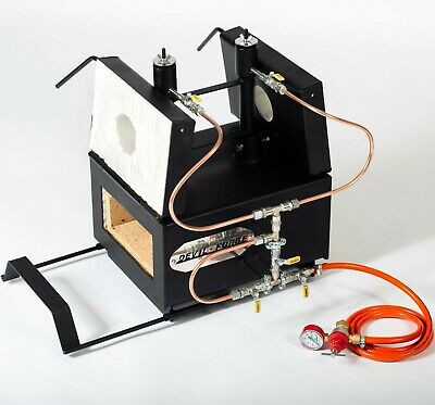 DFPROFK2(EMG) GAS PROPANE FORGE Furnace Burner Knife Making Blacksmith Farrier