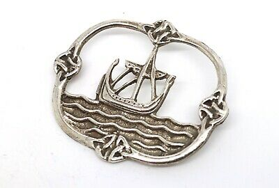 A Cool Vintage Arts & Crafts C1920s Silver 925 IONA Style Scottish Brooch #17643