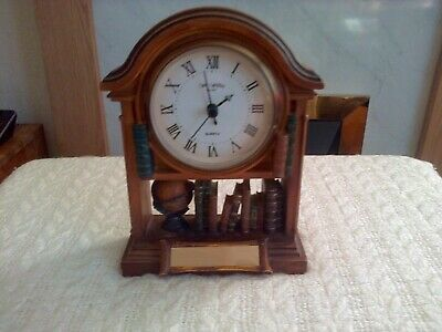 Vintage Library Mantel Clock By William Widdop