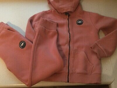 Girls Pink Tracksuit. Zipped Hoody & Bottoms. 7-8yrs. Soulcat & Co.