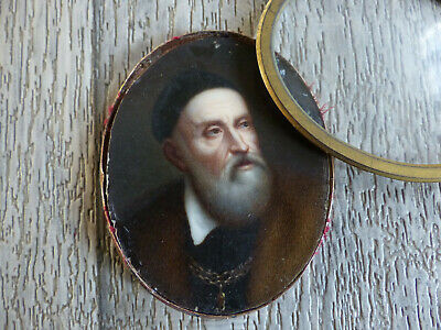 VERY FINE ANTIQUE 18th / 19th CENTURY OLD MAN MINIATURE PORTRAIT