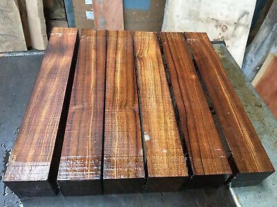 """Chechen ( Caribb Rose) Spindle Blank/exotic Woods 2x2x12"""" Exotic Hardwoods"""