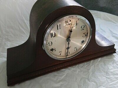 Antique 3 Hole WESTMINSTER CHIMES Mantle Clock Original Key &Small Mantle 1 Hole