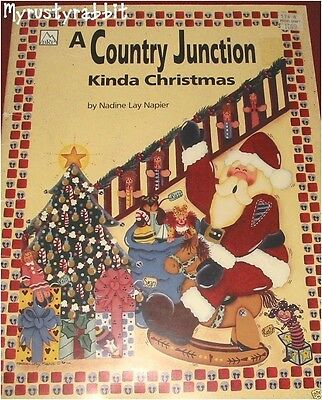 A Country Junction Kinda Christmas ~ Tole Painting Book ~ Nadine Napier