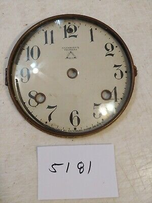 Antique Waterbury Tambour Mantle Clock Dial & Bezel & Glass