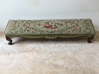 Vintage Antique  Long  Footstool Prayer Stool
