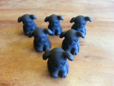 LOT 6 Cast Iron Griswold Pup Advertising Paperweight Dog EMBOSSED