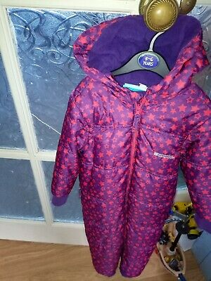 Girls Mountain Warehouse Snow Suit Age 24-36 Months