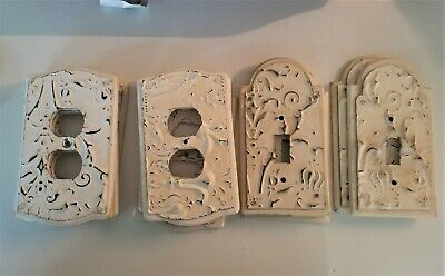 Lot of 10 French Vintage Switch Plates ~ Electrical Outlet Covers