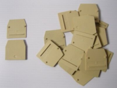 18 x CABUR PIASTRINA TERMINAL BLOCK END SECTION BEIGE CB241 CB.4-6/PT