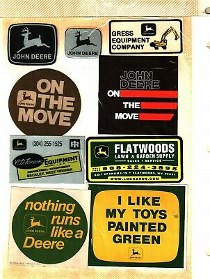 Nice Lot Of 9  Different John Deere Equiptment  Coal Mining Stickers # 1001