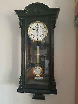 Lenzkirch Regulator Wanduhr Pendeluhr Wall Clock Uhrwerk Movement antik alte Uhr