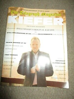 UK Kiefer Sutherland Telegraph Magazine Cover Clippings Reckless & Me Promo