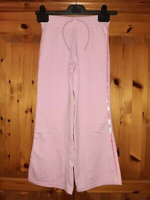 Girls pink comfy bootcut bottoms / Trousers Matalan age 7 years