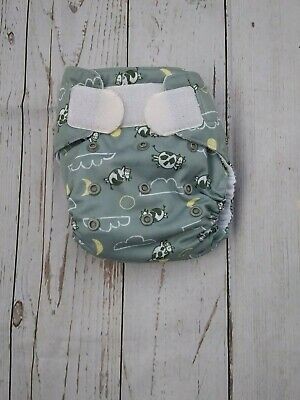 Thirsties One Size Gray Cow Cloth Diaper