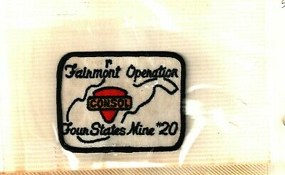 Rare Nice Old Four States # 20 Consol Coal Co. Patch Coal Mining Sticker # 295