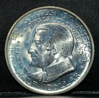 1936-P Cleveland Commemorative 50C ✪ Unc ✪ Half Dollar Great Lakes L@@K◢Trusted◣