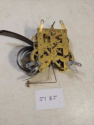 Antique New Haven Cathedral Gong Tambour Mantle Clock Movement