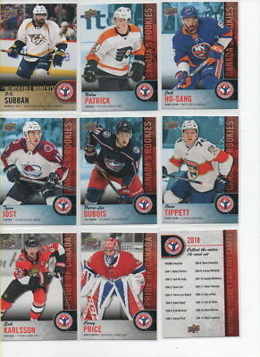 2017-18 Ud National Hockey Card Day Canada -  Full Set 17  -  P.k. Subban Can-16