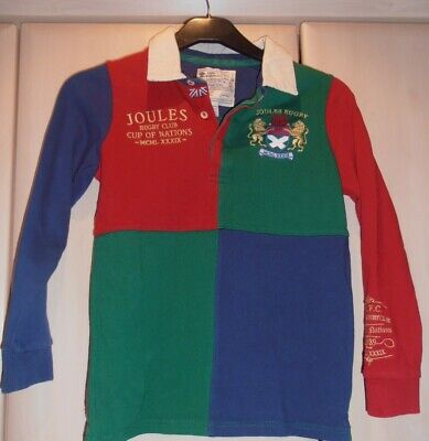 Joules Boys Long Sleeved Rugby shirt age 9-10yrs