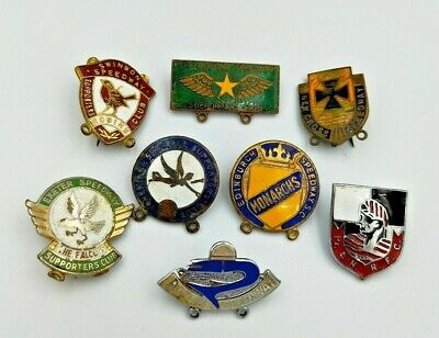 Collection / Job Lot Of Speedway Enamel Badges - Various Teams