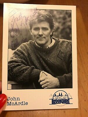 John Mcardle - Emmerdale / Brookside- Small   Photo Signed-