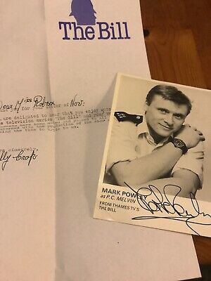 The Bill Mark Powley Signed Photo