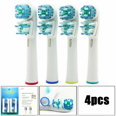 Double Clean Brush Heads, Dual clean Compatible with Oral-B Toothbrushes 4 Pack