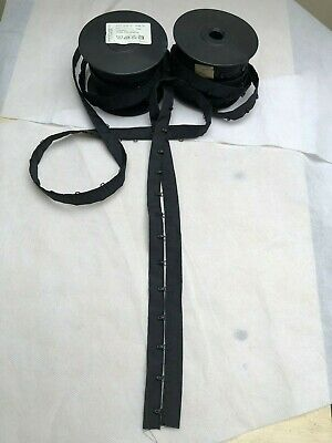 25 mm Black 100 % Poliamida Hook and Eye Tape 1 Meter