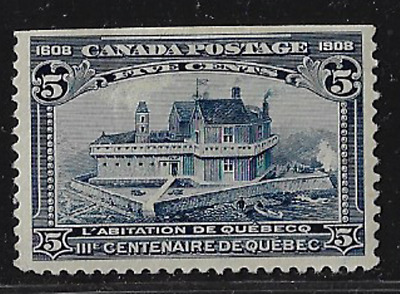 Canada Stamps — 1908, Champlain's Home in Quebec 5ȼ #99 MH — Lot 20622