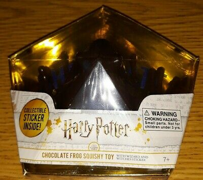 NEW Harry Potter Chocolate Frog Squishy Toy w Wizard & Witches Sticker SEALED