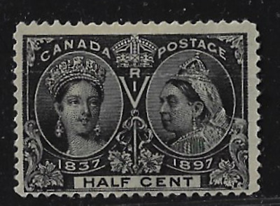 Canada Stamps — 1897, Jubilee Issue: Queen Victoria.1/2ȼ #50 — Lot 20630