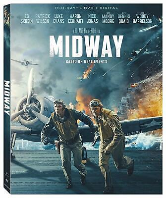 Midway (2019 - Blu-ray, DVD, digital & slipcover) NEW & sealed