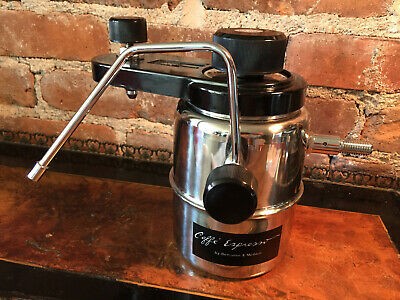 BENJAMIN & MEDWIN ~ Stovetop Caffe Espresso & Cappuccino Maker ~ Stainless ~